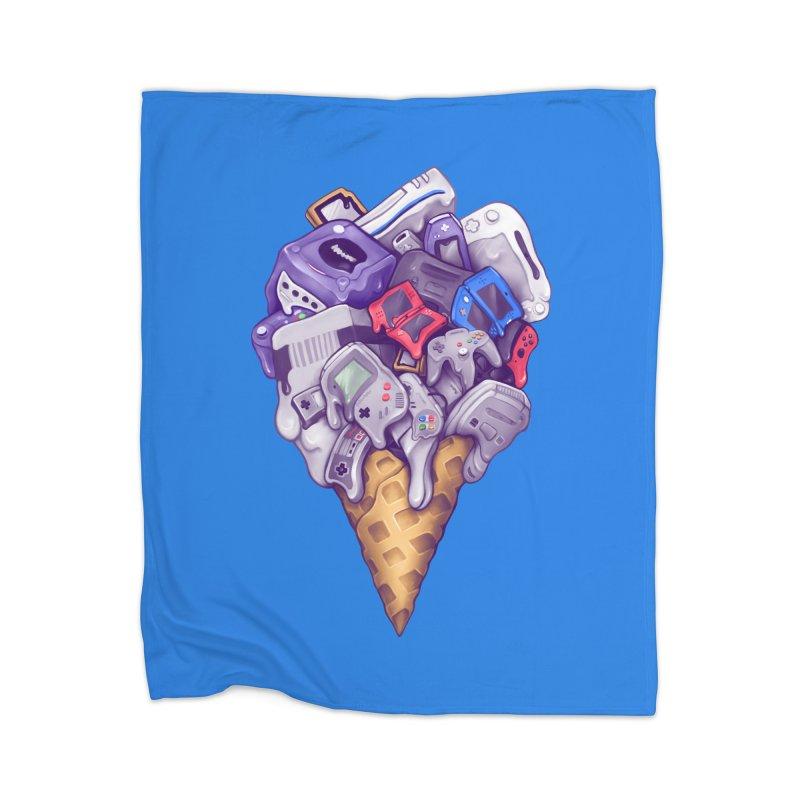 Ice Cream Nintendo Consoles Home Fleece Blanket Blanket by c0y0te7's Artist Shop