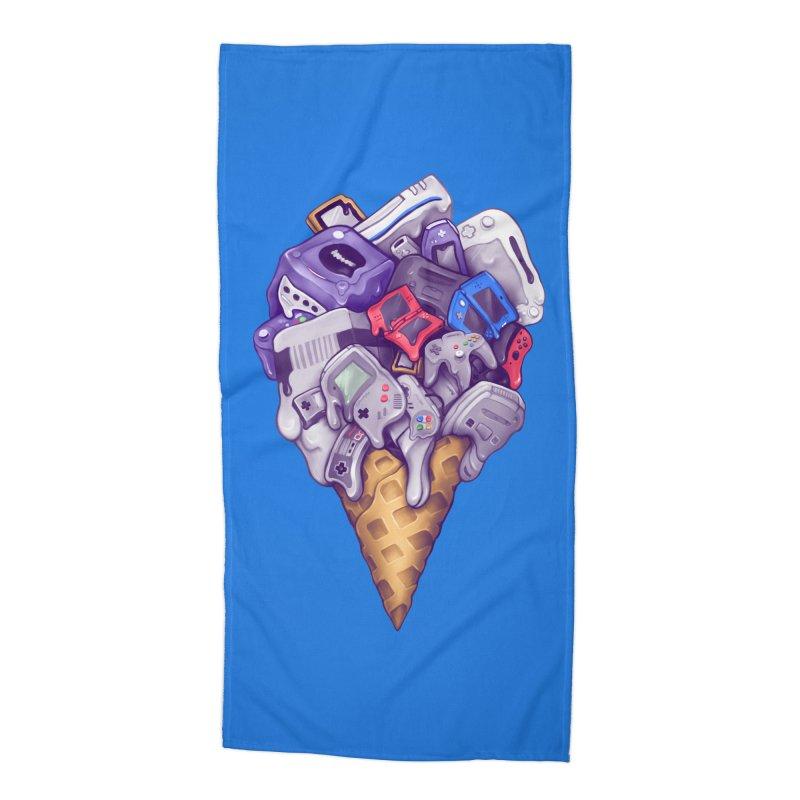 Ice Cream Nintendo Consoles Accessories Beach Towel by c0y0te7's Artist Shop