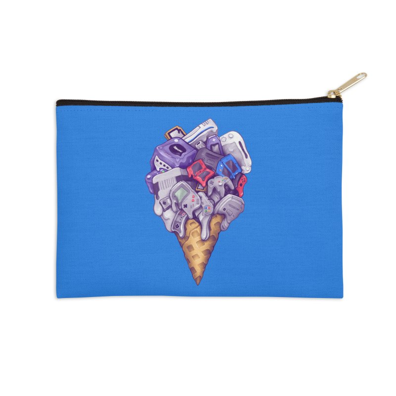Ice Cream Nintendo Consoles Accessories Zip Pouch by c0y0te7's Artist Shop