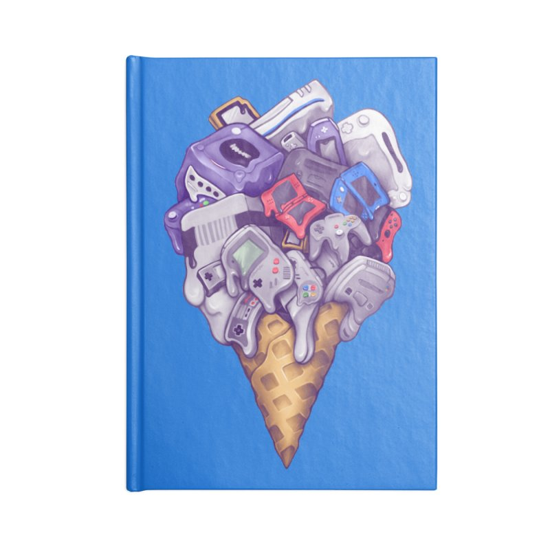 Ice Cream Nintendo Consoles Accessories Blank Journal Notebook by c0y0te7's Artist Shop