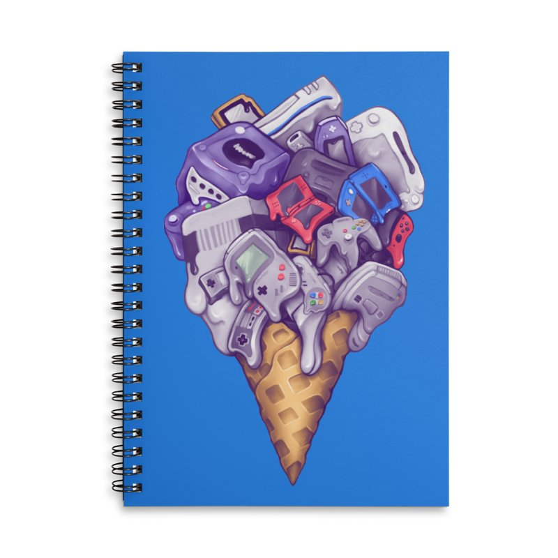 Ice Cream Nintendo Consoles Accessories Lined Spiral Notebook by c0y0te7's Artist Shop
