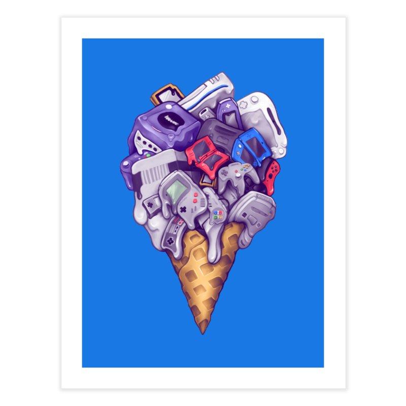 Ice Cream Nintendo Consoles Home Fine Art Print by c0y0te7's Artist Shop