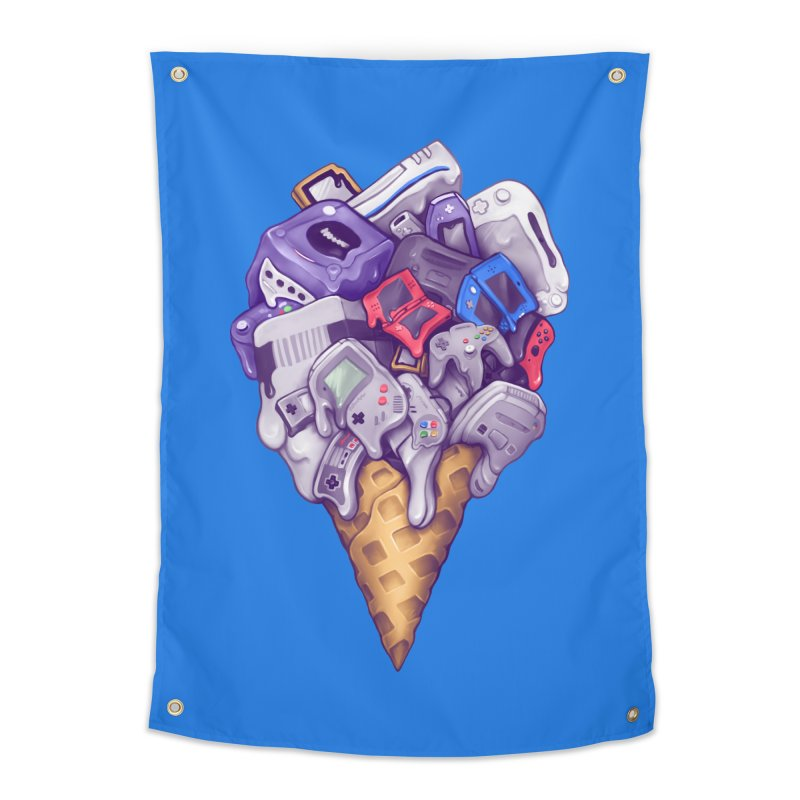 Ice Cream Nintendo Consoles Home Tapestry by c0y0te7's Artist Shop