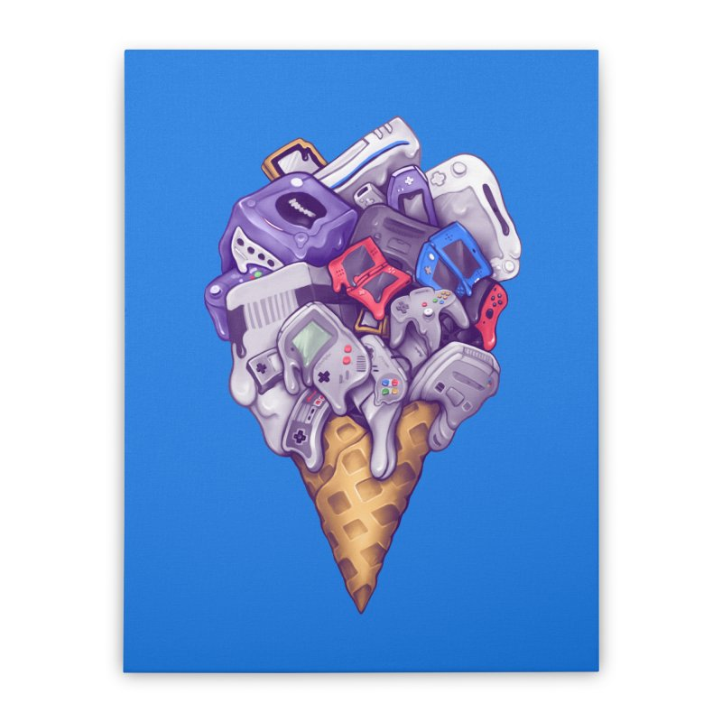 Ice Cream Nintendo Consoles Home Stretched Canvas by c0y0te7's Artist Shop