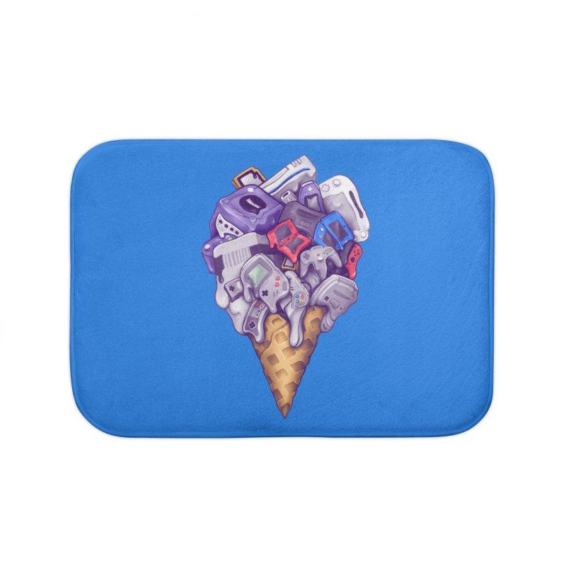 Ice Cream Nintendo Consoles Home Bath Mat by c0y0te7's Artist Shop
