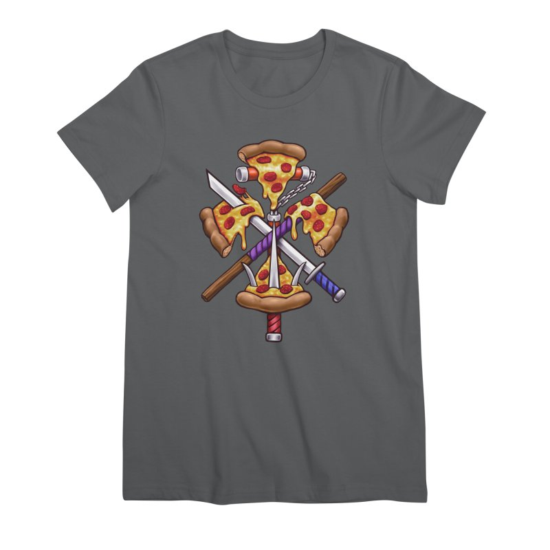 Ninja Pizza Women's Premium T-Shirt by c0y0te7's Artist Shop