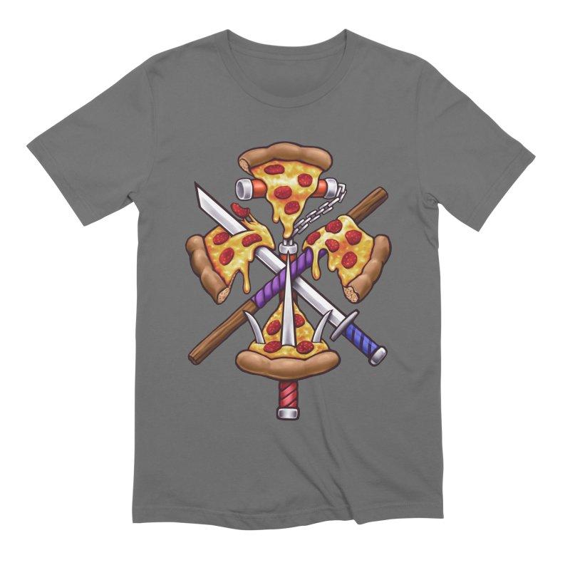 Ninja Pizza Men's T-Shirt by c0y0te7's Artist Shop