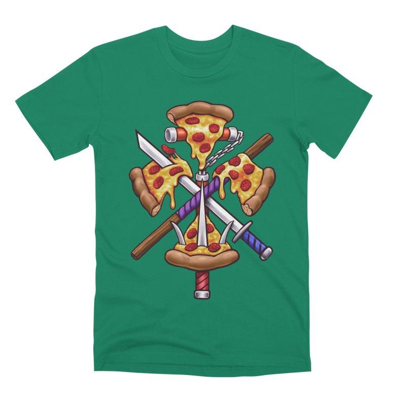 Ninja Pizza Men's Premium T-Shirt by c0y0te7's Artist Shop