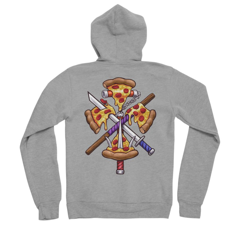 Ninja Pizza Women's Sponge Fleece Zip-Up Hoody by c0y0te7's Artist Shop