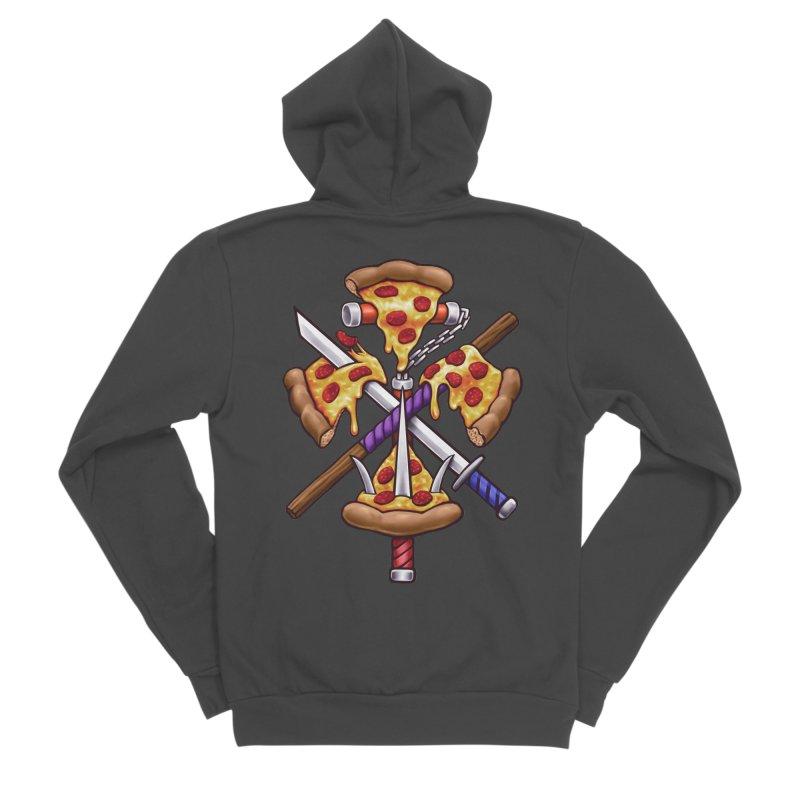 Ninja Pizza Men's Sponge Fleece Zip-Up Hoody by c0y0te7's Artist Shop