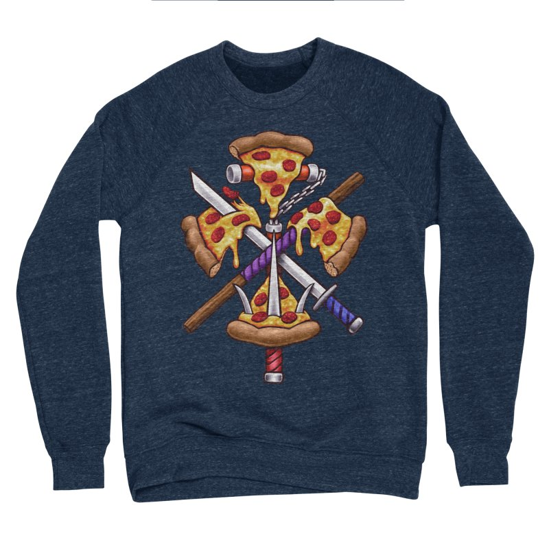 Ninja Pizza Men's Sponge Fleece Sweatshirt by c0y0te7's Artist Shop
