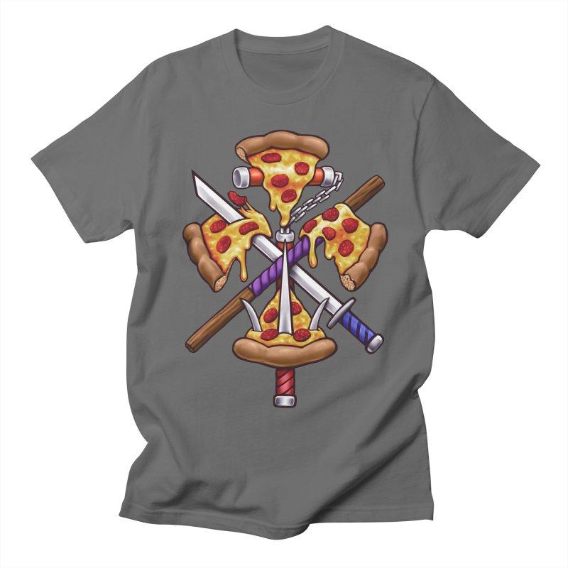 Ninja Pizza Men's Regular T-Shirt by c0y0te7's Artist Shop