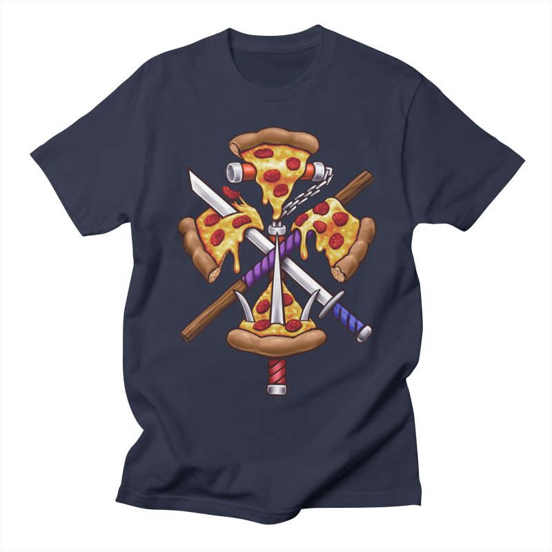 Ninja Pizza Women's Regular Unisex T-Shirt by c0y0te7's Artist Shop