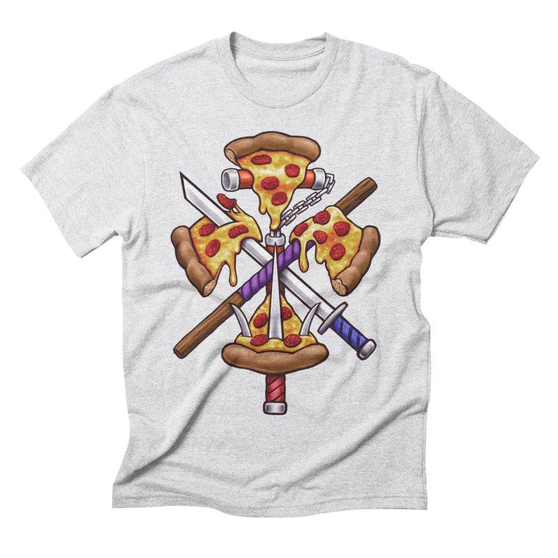 Ninja Pizza Men's Triblend T-Shirt by c0y0te7's Artist Shop