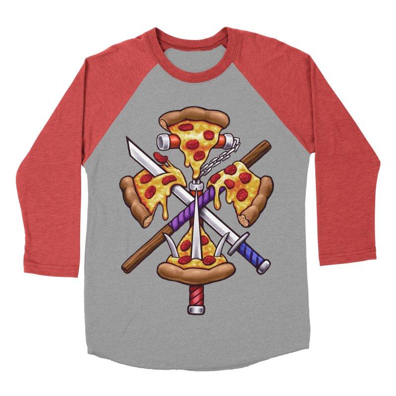 Ninja Pizza Women's Baseball Triblend Longsleeve T-Shirt by c0y0te7's Artist Shop