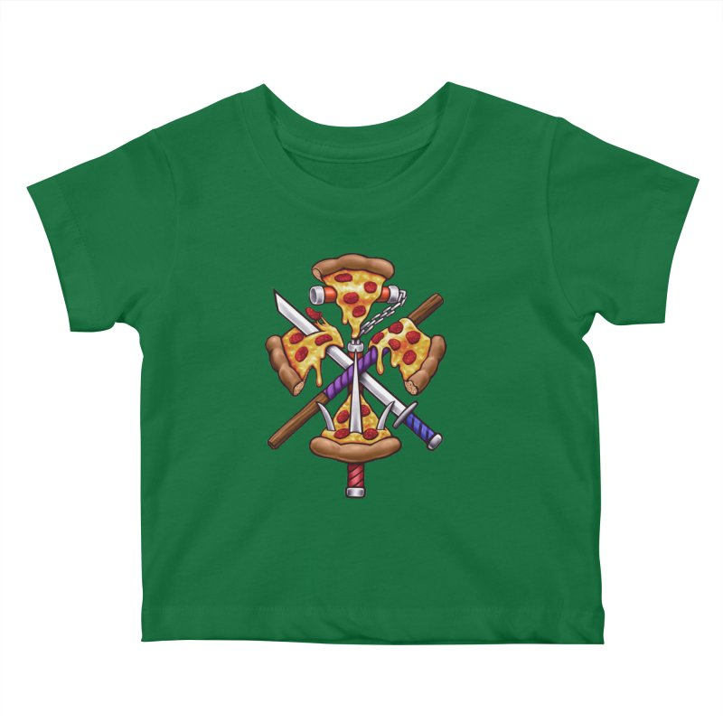 Ninja Pizza Kids Baby T-Shirt by c0y0te7's Artist Shop