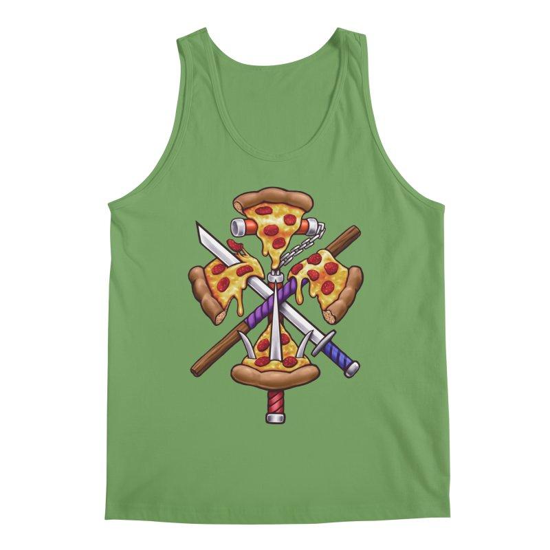 Ninja Pizza Men's Tank by c0y0te7's Artist Shop