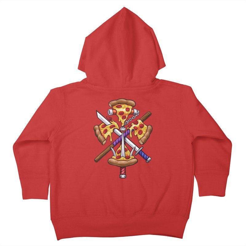 Ninja Pizza Kids Toddler Zip-Up Hoody by c0y0te7's Artist Shop