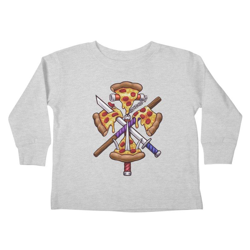 Ninja Pizza Kids Toddler Longsleeve T-Shirt by c0y0te7's Artist Shop