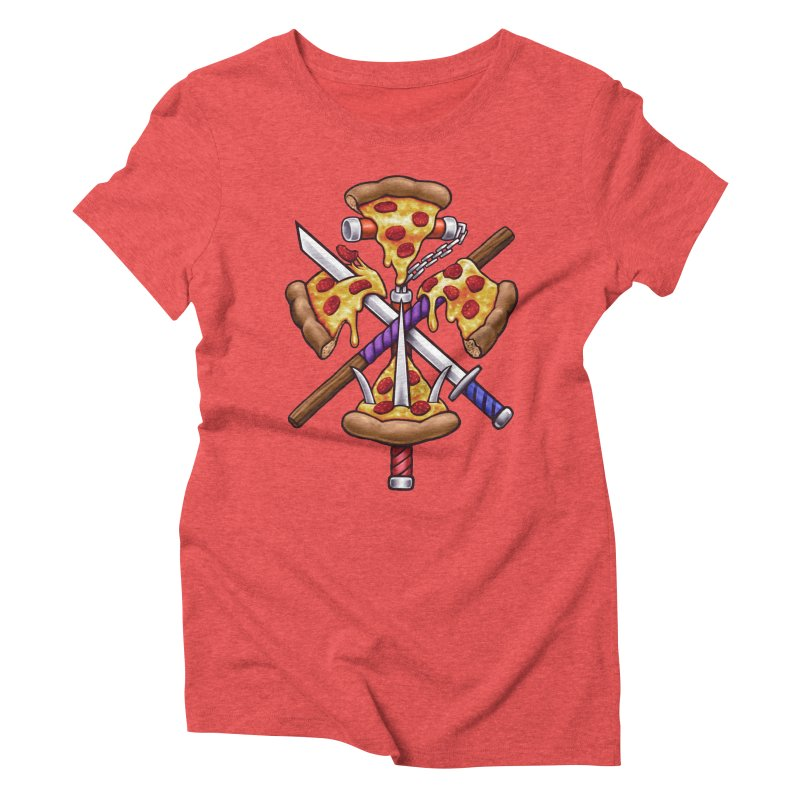 Ninja Pizza Women's Triblend T-Shirt by c0y0te7's Artist Shop