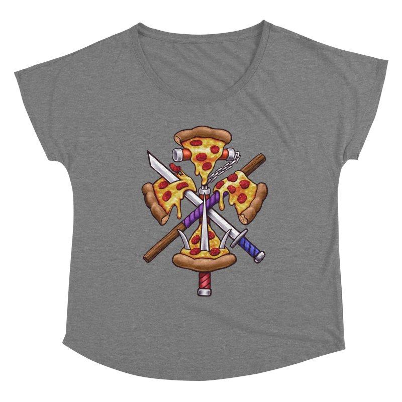 Ninja Pizza Women's Scoop Neck by c0y0te7's Artist Shop