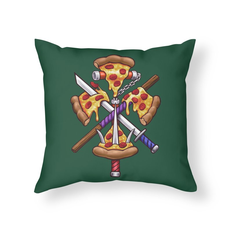Ninja Pizza Home Throw Pillow by c0y0te7's Artist Shop