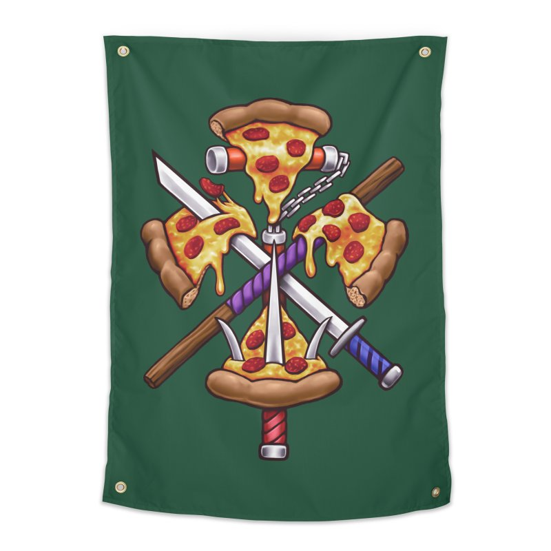 Ninja Pizza Home Tapestry by c0y0te7's Artist Shop