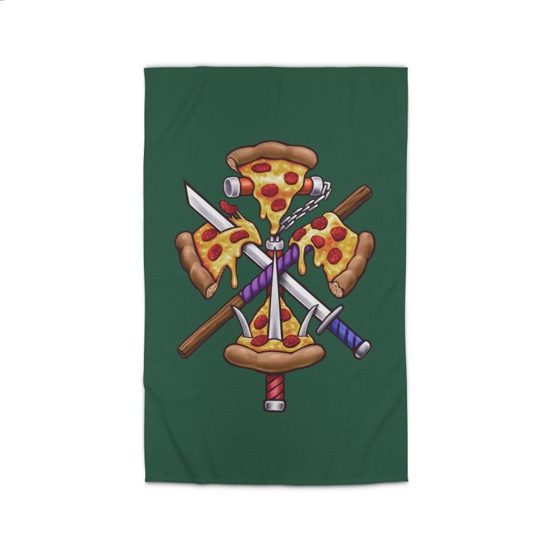 Ninja Pizza Home Rug by c0y0te7's Artist Shop