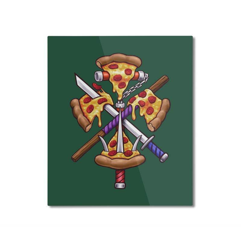 Ninja Pizza Home Mounted Aluminum Print by c0y0te7's Artist Shop