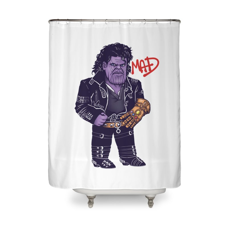 Mad Home Shower Curtain by c0y0te7's Artist Shop
