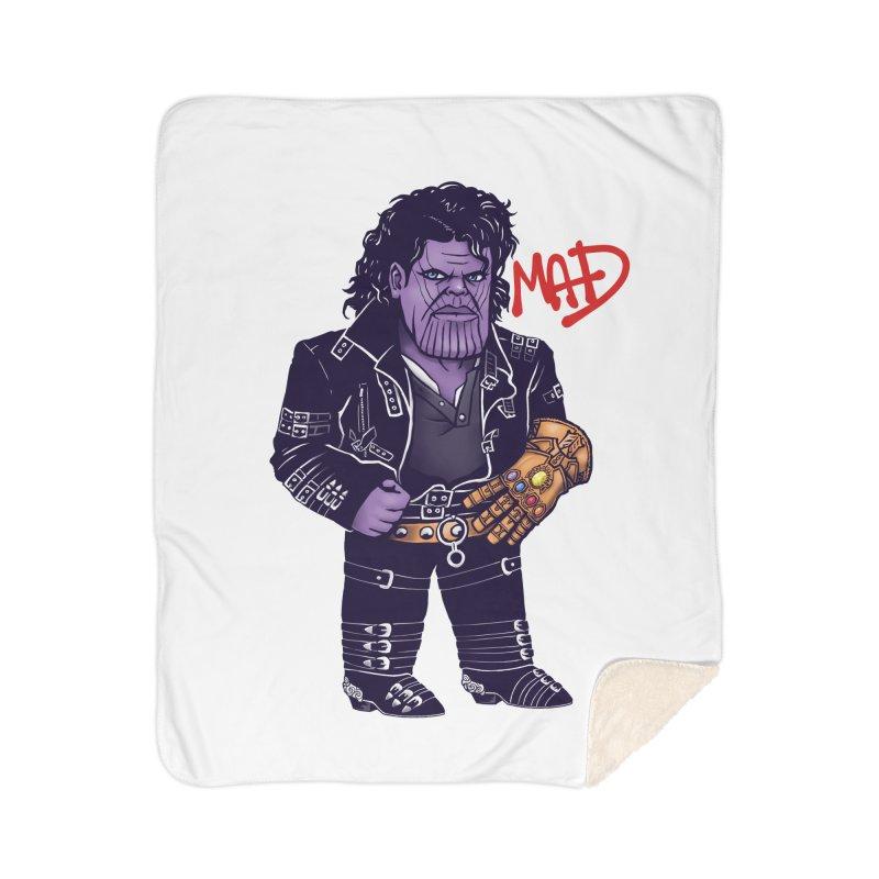 Mad Home Sherpa Blanket Blanket by c0y0te7's Artist Shop