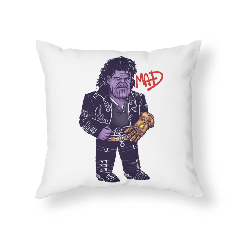 Mad Home Throw Pillow by c0y0te7's Artist Shop