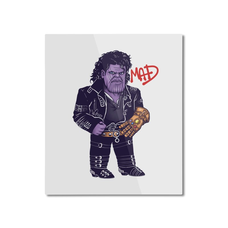 Mad Home Mounted Aluminum Print by c0y0te7's Artist Shop