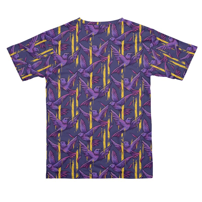Purple Birds In Golden Rain Men's Cut & Sew by c0y0te7's Artist Shop