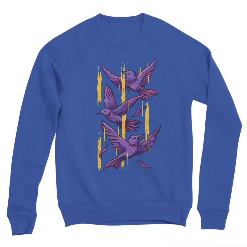 Purple Birds In Golden Rain Women's Sweatshirt by c0y0te7's Artist Shop