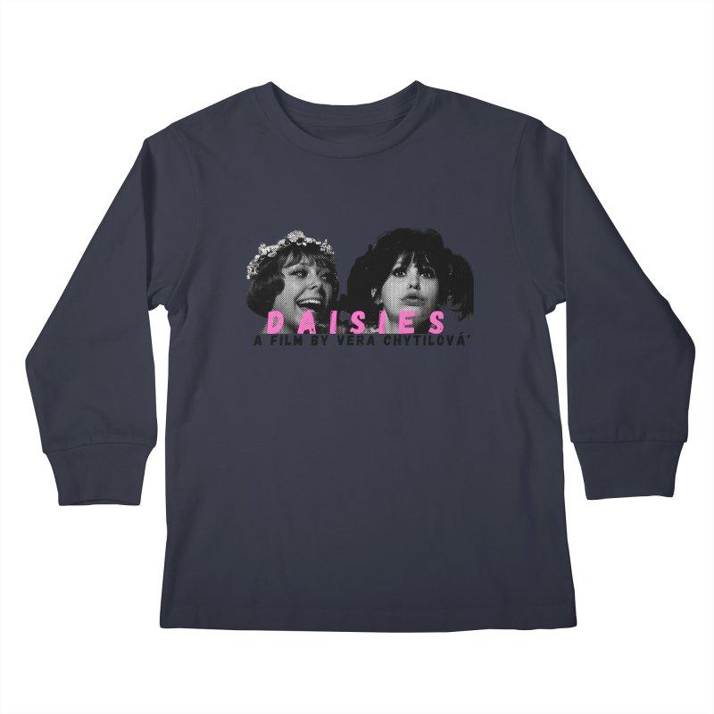 Daisies Kids Longsleeve T-Shirt by cELLEuloid