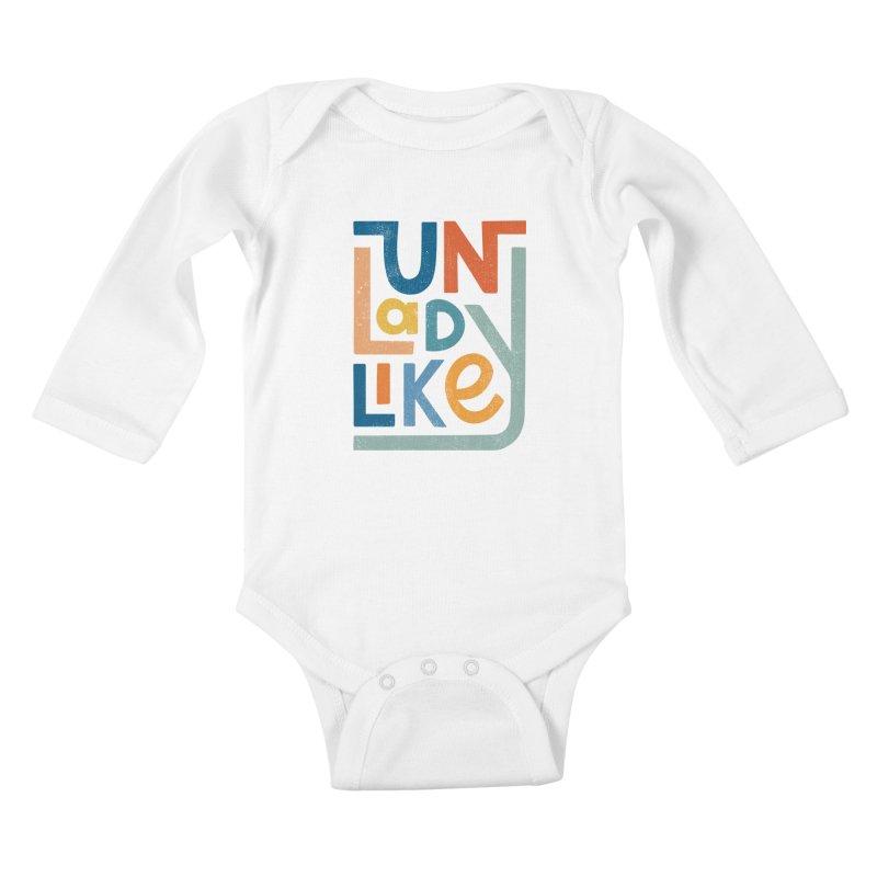 Unladylike Kids Baby Longsleeve Bodysuit by cabinsupplyco's Artist Shop