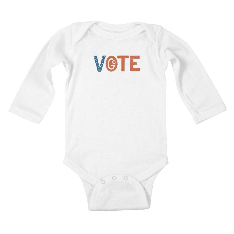 Go Vote Kids Baby Longsleeve Bodysuit by cabinsupplyco's Artist Shop