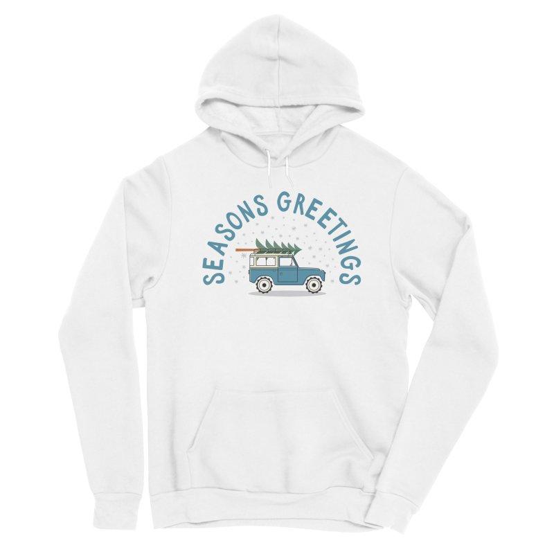 Seasons Greetings Men's Pullover Hoody by cabinsupplyco's Artist Shop