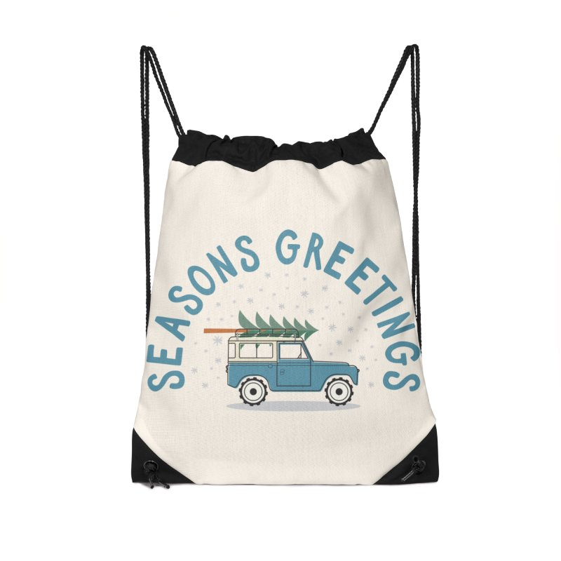 Seasons Greetings Accessories Bag by cabinsupplyco's Artist Shop
