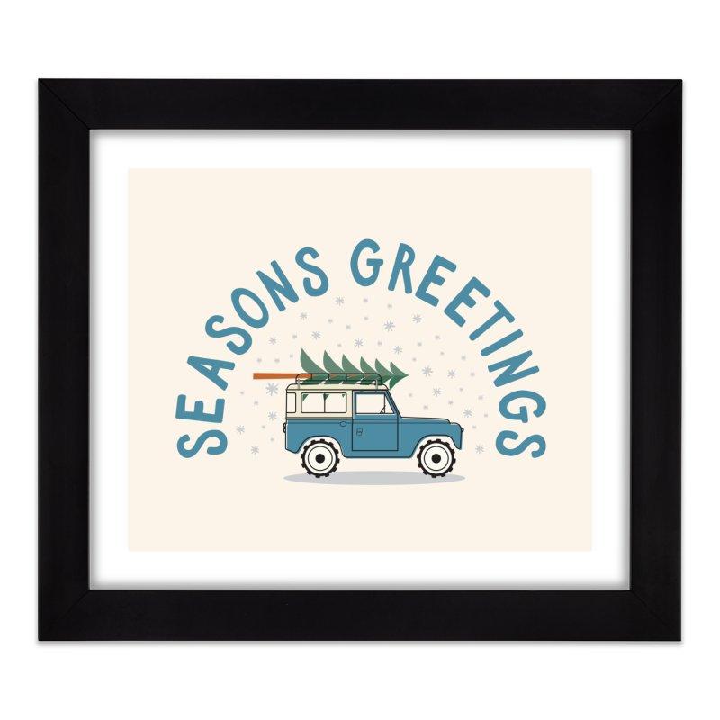 Seasons Greetings Home Framed Fine Art Print by cabinsupplyco's Artist Shop
