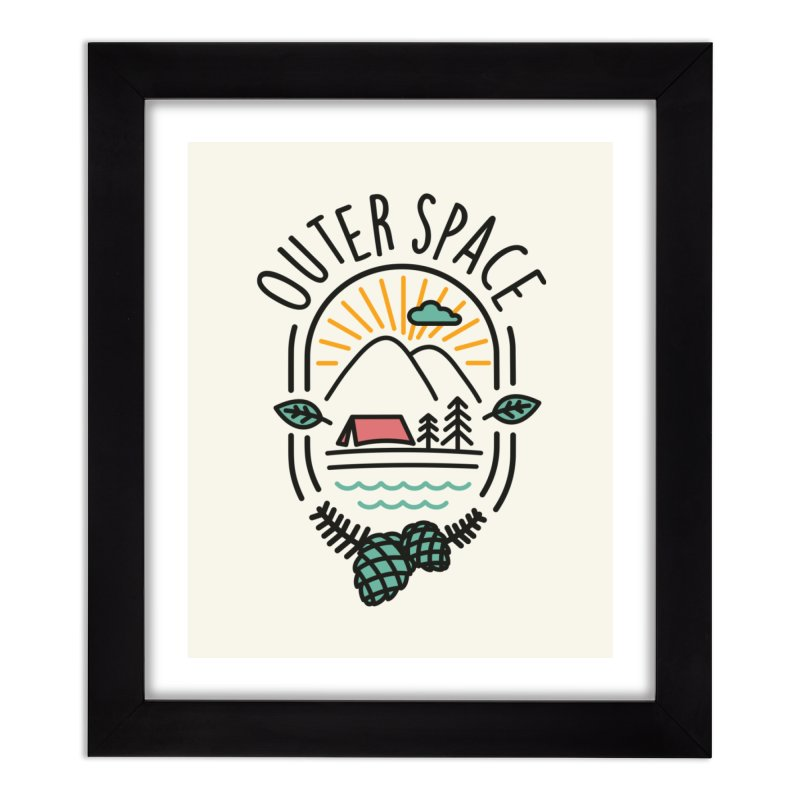 Outer Space Home Framed Fine Art Print by cabinsupplyco's Artist Shop