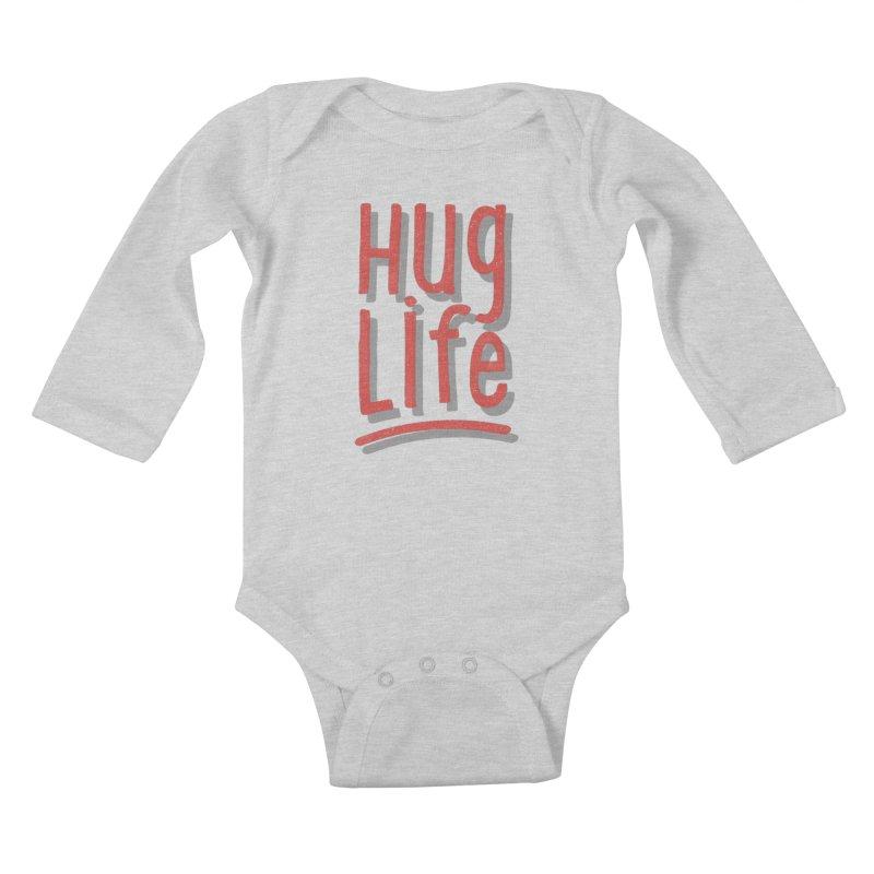 Hug Life Kids Baby Longsleeve Bodysuit by cabinsupplyco's Artist Shop