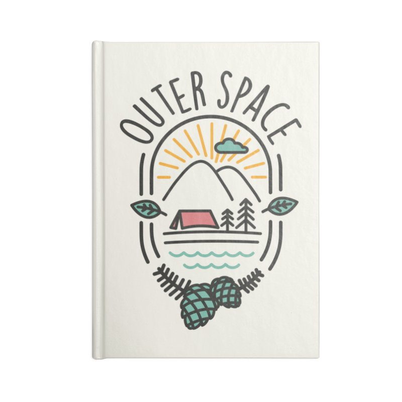 Outer Space Accessories Lined Journal Notebook by cabinsupplyco's Artist Shop