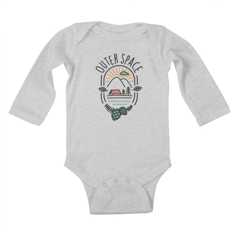 Outer Space Kids Baby Longsleeve Bodysuit by cabinsupplyco's Artist Shop