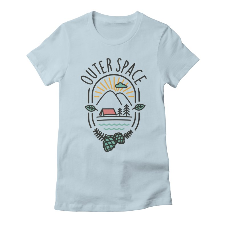 Outer Space Women's Fitted T-Shirt by cabinsupplyco's Artist Shop