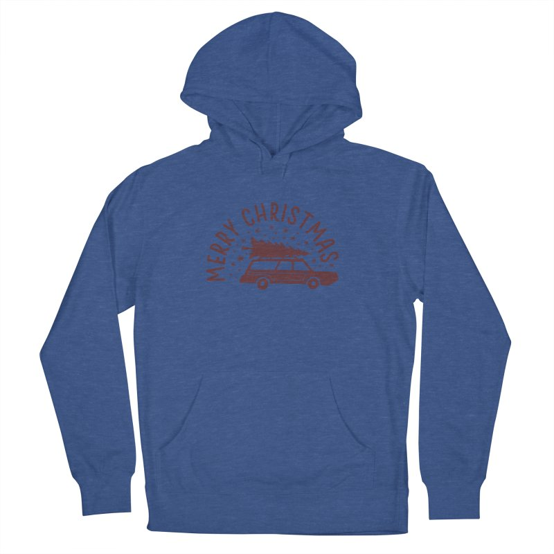 Merry Christmas Women's French Terry Pullover Hoody by cabinsupplyco's Artist Shop