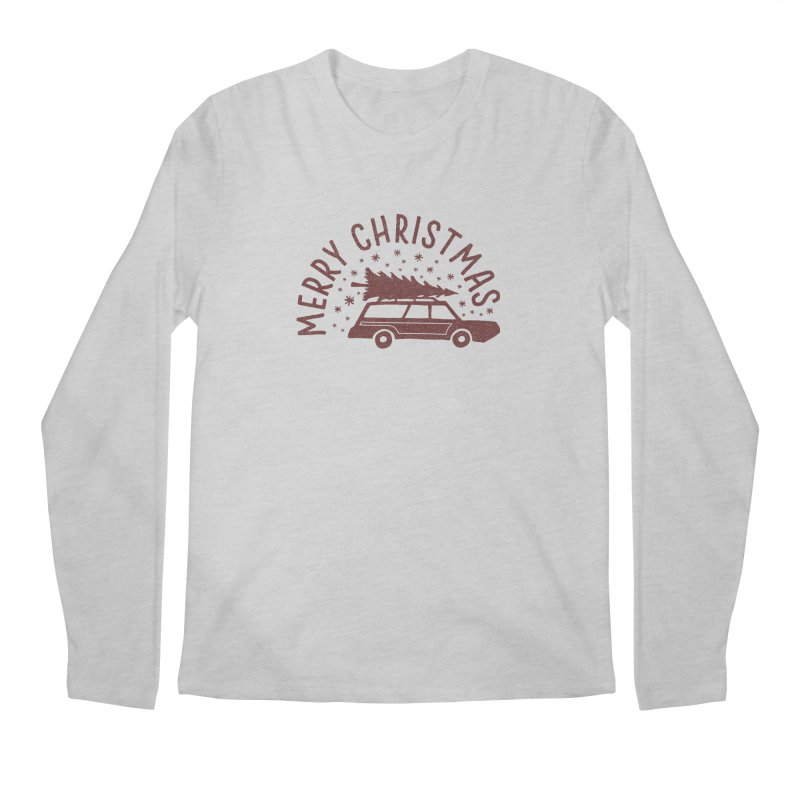 Merry Christmas Men's Regular Longsleeve T-Shirt by cabinsupplyco's Artist Shop