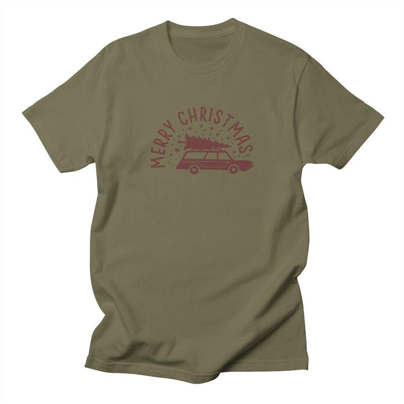 Merry Christmas Men's Regular T-Shirt by cabinsupplyco's Artist Shop