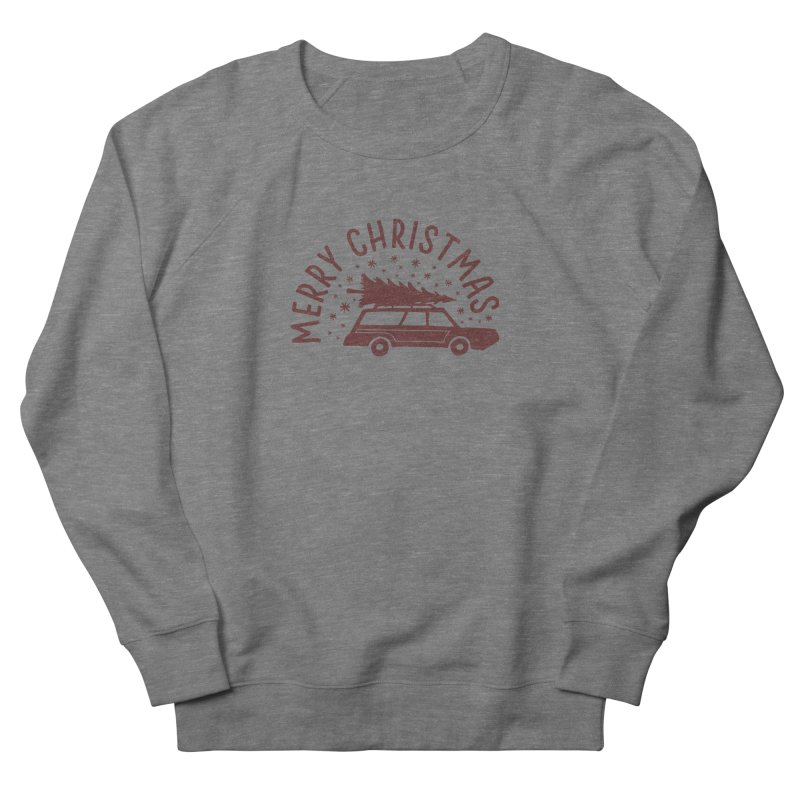Merry Christmas Men's French Terry Sweatshirt by cabinsupplyco's Artist Shop